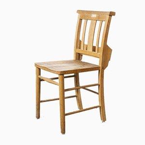 British Beech Church Dining Chairs, 1950s, Set of 8