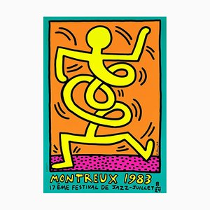 Keith Haring Montreux Jazz Festival (green),