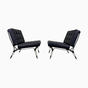Ico Parisi '856' Leather Lounge Chairs, Cassina, 1957
