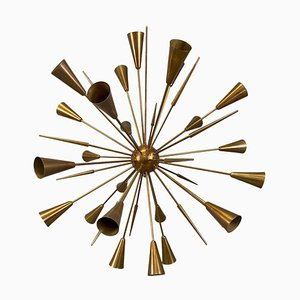 Italian Sputnik Chandelier with 32 Arms in Brass