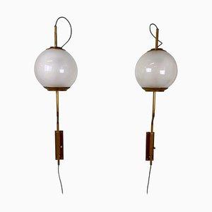 Model LP11 Ball Wall Lights by Luigi Caccia Dominioni for Azucena, 1960s, Set of 2