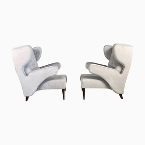 Italian Armchairs attributed to Melchiorre Bega , 1950s, Set of 2