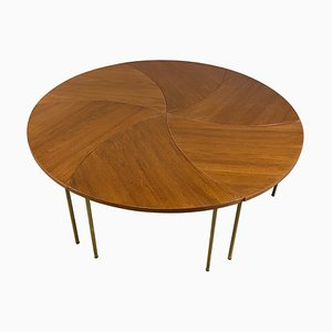 Brass Model 523 Tables by Peter Hvidt, 1950s, Set of 6