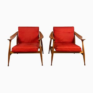 Lord Armchairs by Fratelli Reguitti, 1950s, Set of 2