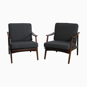 Danish Armchairs by Arne Vodder, 1950s, Set of 2