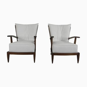 Mid-Century Italian Sculptural Armchairs by Paolo Buffa, 1950s, Set of 2