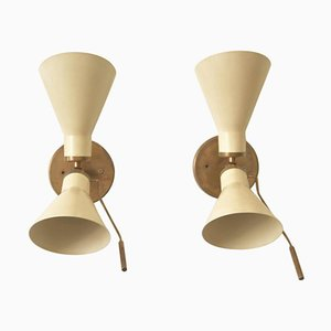 Model 131 Articulating Sconces by Gino Sarfatti, 1950s, Set of 2