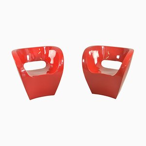Red Albert Armchairs by Ron Arad in 2000 for Moroso, 2000s, Set of 2