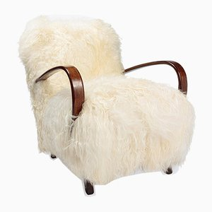 Icelandic Sheepskin Chair by Jindrich Halabala