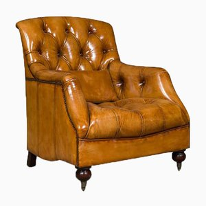 Windsor Club Chair in Hellbraun