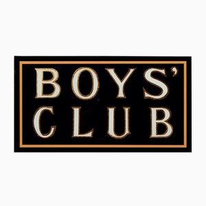 Cartel 'Boys Club' dorado de hojas pintadas a mano