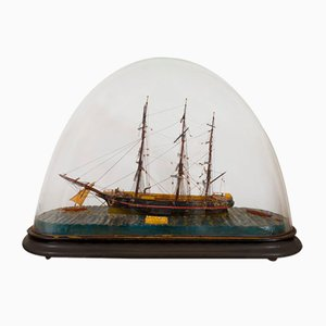 Early 20th Century Miniature Ship Model