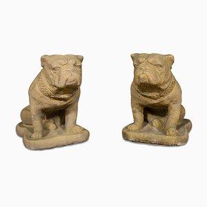 Britische Bulldogge Statuen, 2er Set
