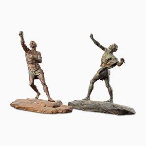 Antique Bronze Figures, Set of 2