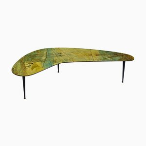 Varnished Wood Coffee Table by Decalage Gruppo d''Arte, 1956