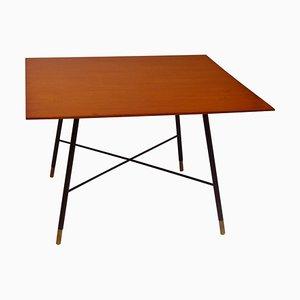 Table Basse avec Cadre en Laiton et Plateau en Bois par Ico Luisa Parisi, 1950s