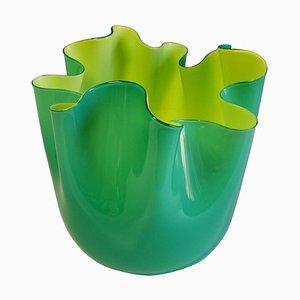 Murano Glas Vase von Fulvio Bianconi für Venini, 1993