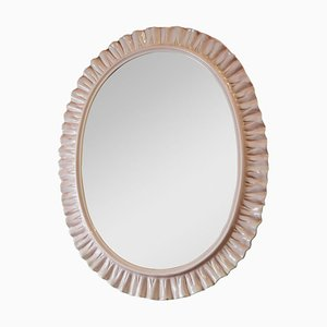 Oval Ceramic Mirror from La Farnesiana, 1970s