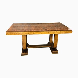 Italian Art Deco Walnut Dining Table, 1930s