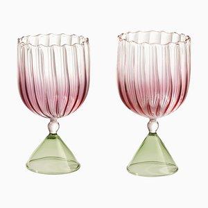 Calypso Water & Wine Set en Rose par Serena Confalonieri