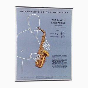 The E Alto Saxophone Poster, 1950s