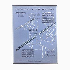 The Bass Flute & Alto Flute Poster, 1950s