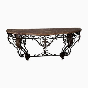 Louis XV Style Wrought Iron Console Table, 1936