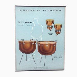 The Timpani & The Pedal Timpani Poster, 1950s