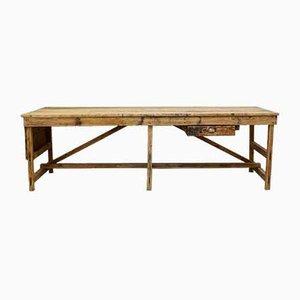 Tavolo da lavoro in pino