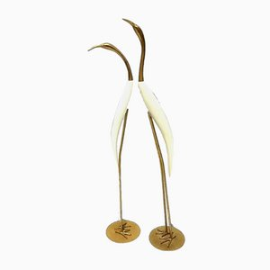 De Stijl, Sculptures, 1960s, Brass and Wood, Set of 2