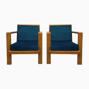 Armchairs by René Gabriel, 1940s, Set of 2
