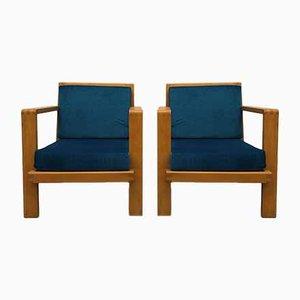 Armchairs by René Gabriel, 1940s, Set of 2
