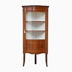Edwardian Mahogany Corner Display Cabinet