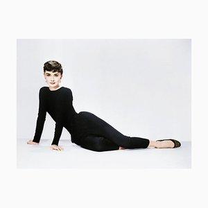 Audrey Hepburn in Sabrina Framed in White by Bettmann