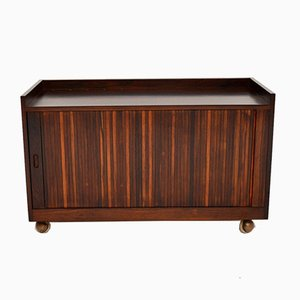 Rosewood Tambour Front Sideboard, 1960s