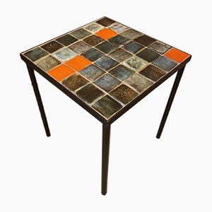 Mid-Century Ceramic Coffee Table by Les 2 Potiers