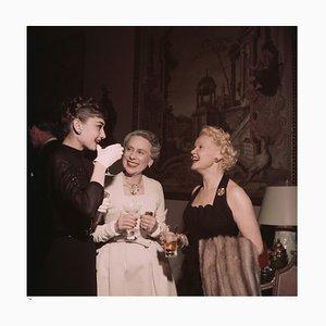 Hepburn and Friends Framed in Black by Slim Aarons