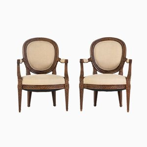 French 18th-Century Armchairs, Set of 2