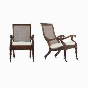 19th-Century Anglo Indian Plantation Chairs, Set of 2