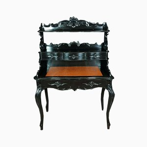 Napoleon III of Violin-Shaped Blackened Wood Secretaire