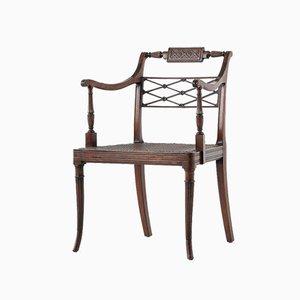 Early 19th-Century Regency Mahogany Desk Chair