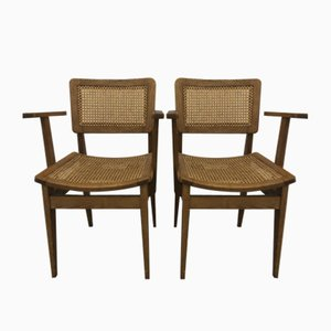 Bridge Desk Chairs by Marcel Gascoin, 1950s, Set of 2