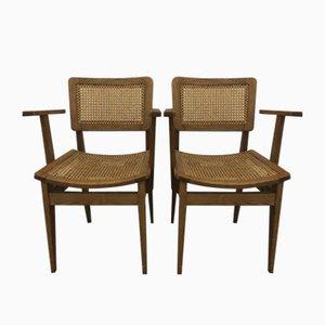Bridge Schreibtischstühle von Marcel Gascoin, 1950er, 2er Set