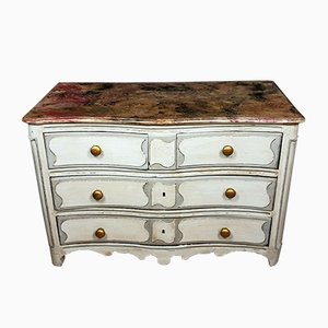 Louis XIV Parisian Chest of Drawers with Curved Front in Lacquered Wood
