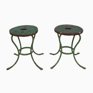 Green Stools, Set of 2