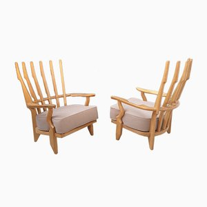 Lounge Chairs by Guillerme et Chambron, 1960s, Set of 2