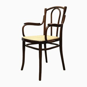 Antique Austrian Straw and Wood Dining Chair by Michael Thonet for Thonet