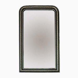 Großer Antiker Ebonisierter und Vergoldeter Spiegel