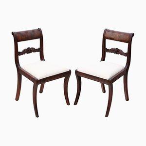 Mahogany C1825 Dining Chairs, Set of 2