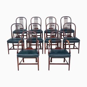 Mahogany Dining Chairs, Set of 10